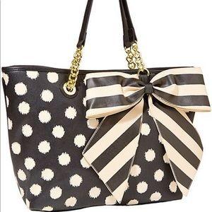 Betsy Johnson oversized tote polka dot bow
